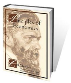 Menger Principles of Economics Cover