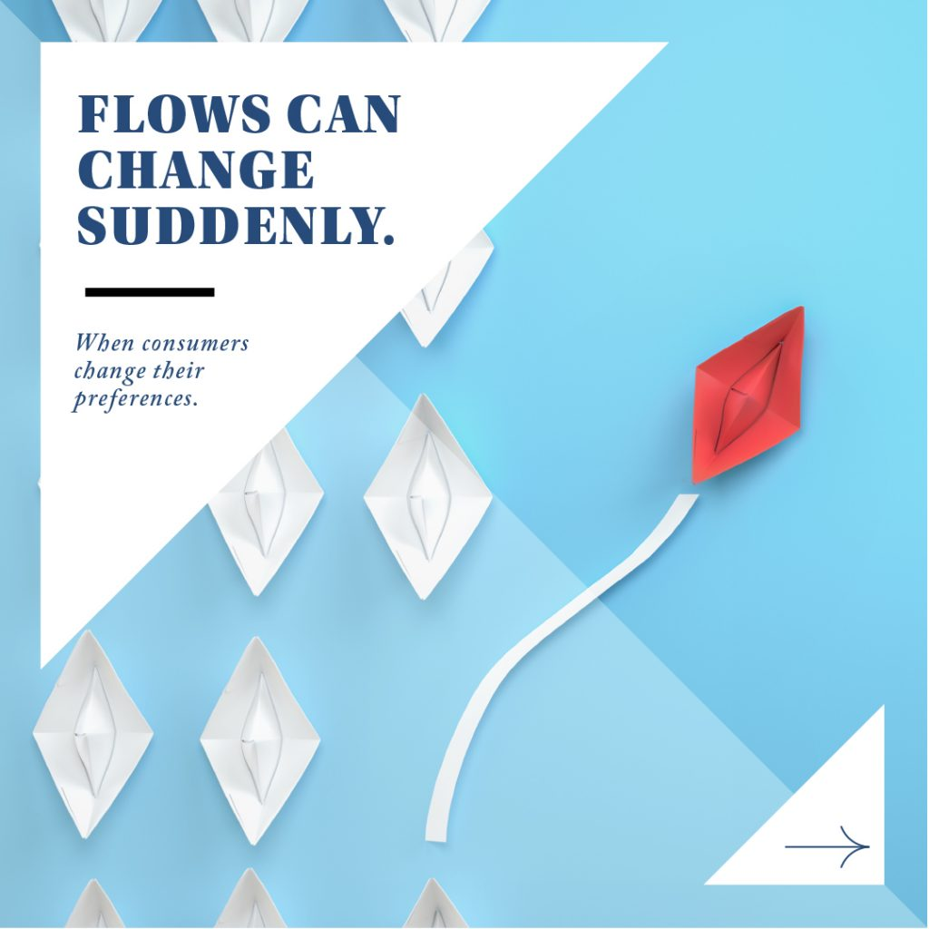 Flows Can Suddenly Change